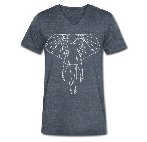 geometric Elephant T-Shirt